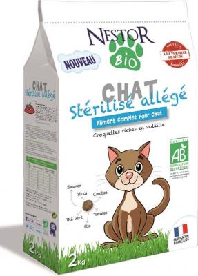NESTOR BIO Croquettes BIO allégées pour chat stérilisé