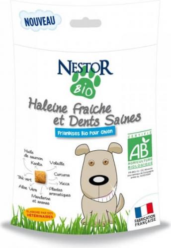 NESTOR BIO Friandises BIO Haleine fraîche et dents saines pour chien