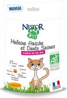 NESTOR BIO Friandises BIO Haleine fraîche et dents saines pour chat