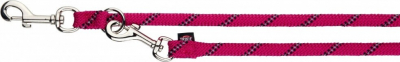 Sporty Rope laisse réglable rose fuchsia