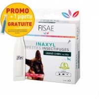 Pipette Insectifuge chien FISAE INAXYL - Innovation : 4 actifs naturels