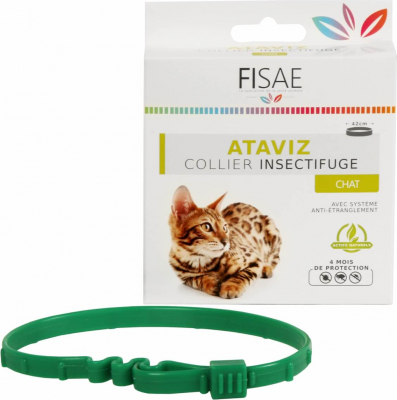 Insektenschultzhalsband für Katzen FISAE ATAVIZ mit Anti-Würg Schutz