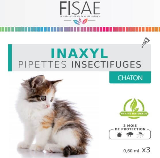 Pipette Insectifuge chat et chaton FISAE INAXYL