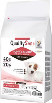 QUALITY SENS Mini Puppy Sans Céréales pour Chiot de petite race