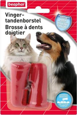 Brosse à dents doigtier pour chien et chat