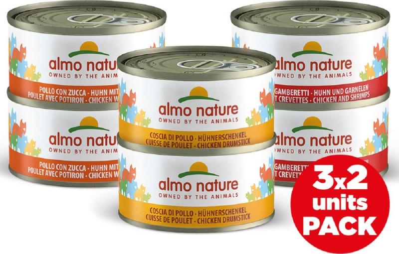 Pâtée Almo Nature HFC Legend Mega Pack pour Chat adulte - 2 multi-saveurs au choix