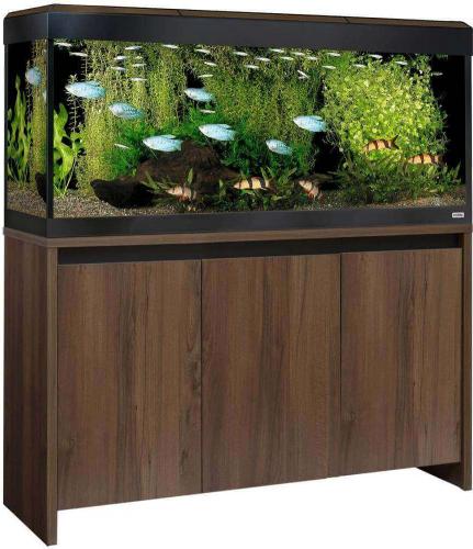 Aquarium ROMA WALNUT 240 Led couleur noyer