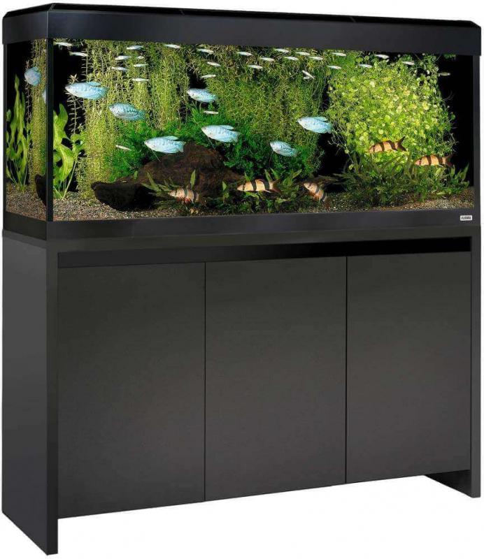 Kit Acuario mueble ROMA BLACK 240 Led - negro. Vendidos por separado