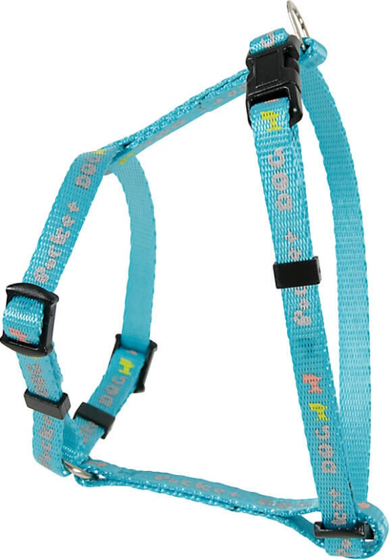 Harnais nylon réglable Pocket Dog bleu