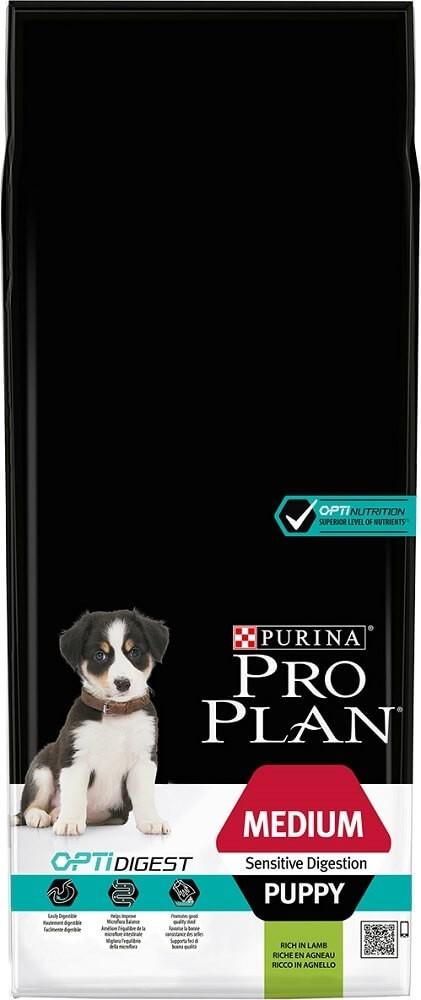Pro Plan Medium Puppy Sensitive Digestion OPTIDIGEST à l'agneau_1
