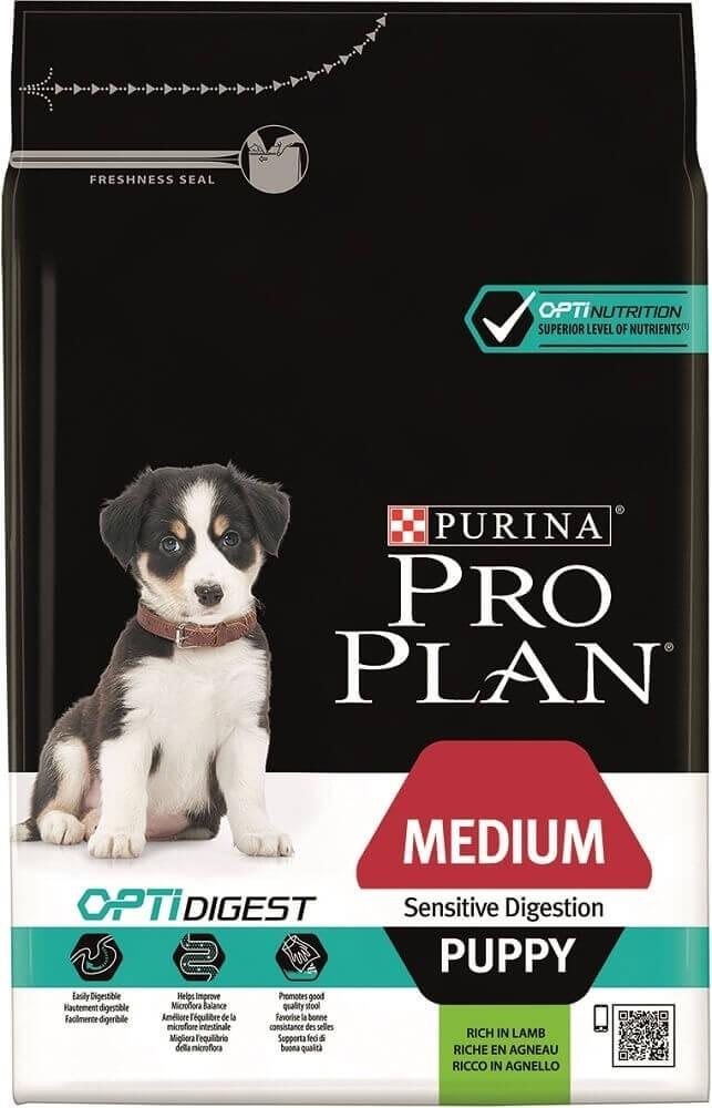 Pro Plan Medium Puppy Sensitive Digestion OPTIDIGEST à l'agneau_0