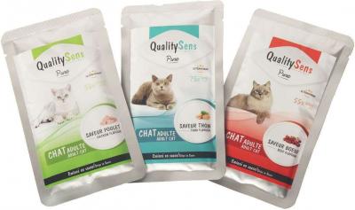 Sachet fraîcheur QUALITY SENS Pure pour chat adulte