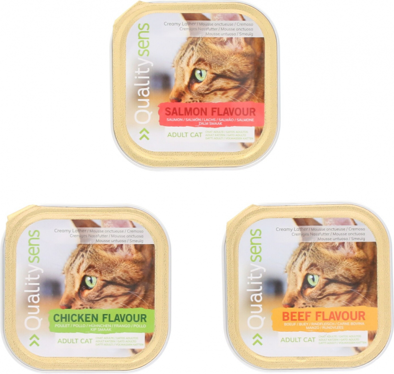 Adult cat mousse QUALITY SENS different flavors