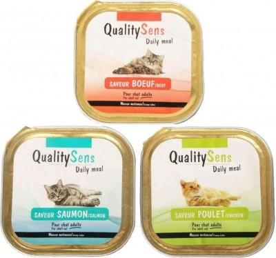 Paté para gatos adultos en mousse QUALITY SENS diferentes sabores
