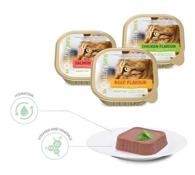mousses quality sens pour chat ingredients