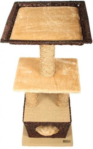 Arbre à chat osier ZOLIA MATYS 98cm_1