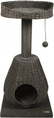 Scratching Post System Grey Wicker ZOLIA KAILI 93cm
