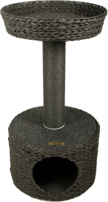 Grey Wicker Scratching Post System ZOLIA TEDDY 72cm