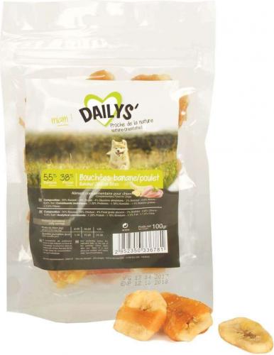 Friandises bouchées Banane Poulet DAILYS pour chien