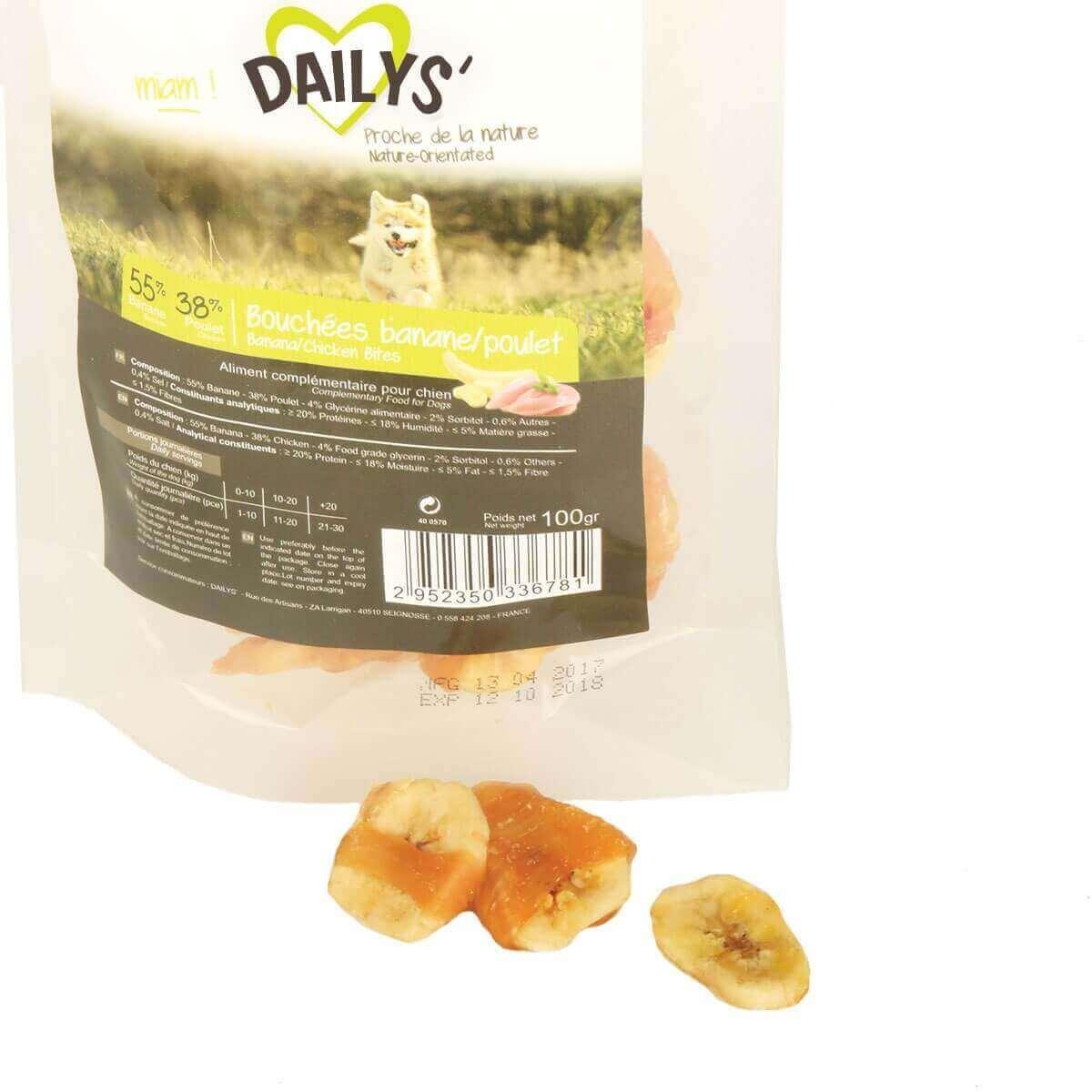 Friandises bouchées Banane Poulet DAILYS pour chien_2