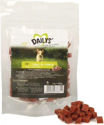 Cubes de canard DAILYS friandises chien