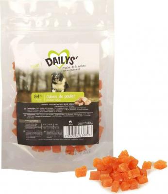 Friandises cubes de poulet DAILYS pour chien