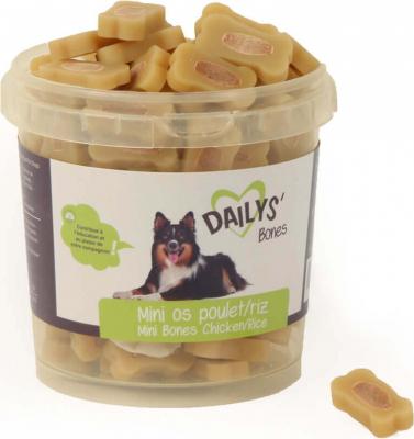 Friandises fourrées au Poulet et Riz DAILYS pour chiens