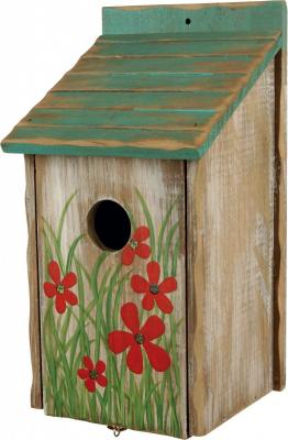 Nichoir décoratif en bois pour oiseaux