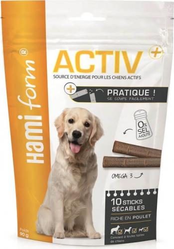 Friandises pour chien actif Activ+ Sticks sécables - 2 saveurs