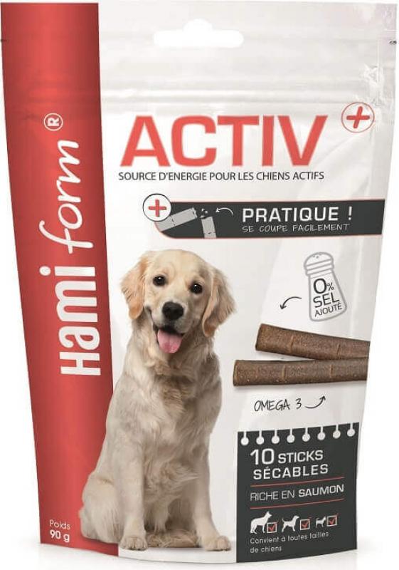 HAMIFORM Activ+ - Sticks Énergie Sécables pour Chien Actif - 2 Saveurs au Choix