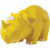 Décor Rhinocéros Aquatic Jungle jaune