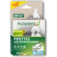 ACT3 Pipettes insectifuges antiparasitaires CHIEN x3