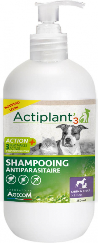 ACT3 Shampooing antiparasitaire chien et chat
