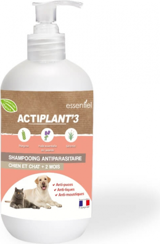 Shampooing antiparasitaire chien et chat ActiPlant'3