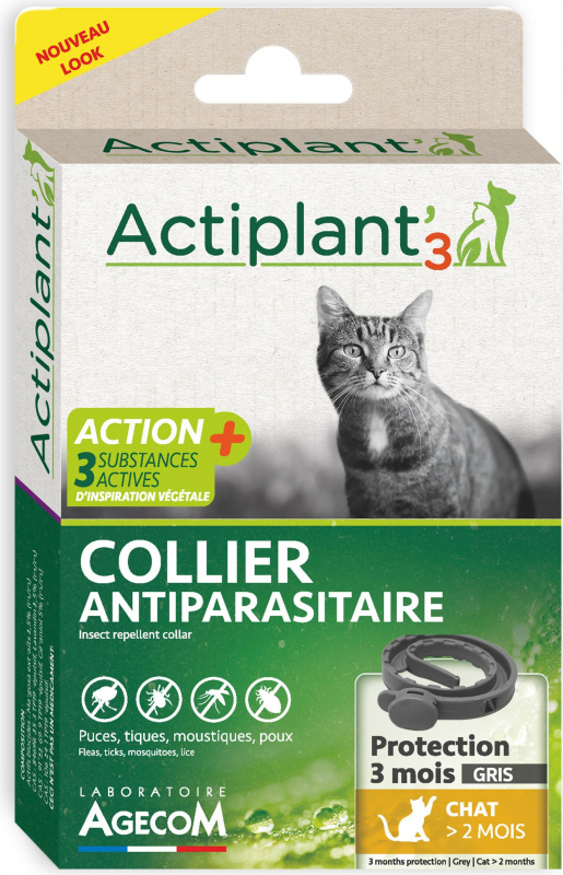 ACT3 Collier insectifuge antiparasitaire CHAT