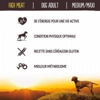TRUE INSTINCT High Meat Medium Maxi Adult Pollo senza cereali