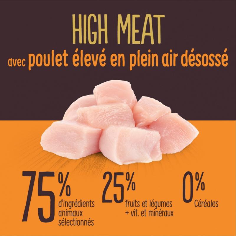TRUE INSTINCT Original HIGH MEAT Chat Adulte Poulet