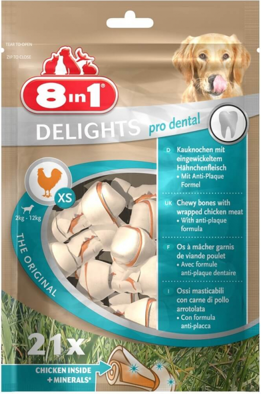 8IN1 DELIGHTS mini os Pro Dental poulet