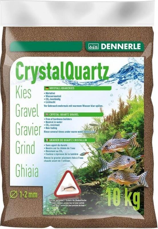 DENNERLE Gravier quartz cristallin brun foncé 1-2mm