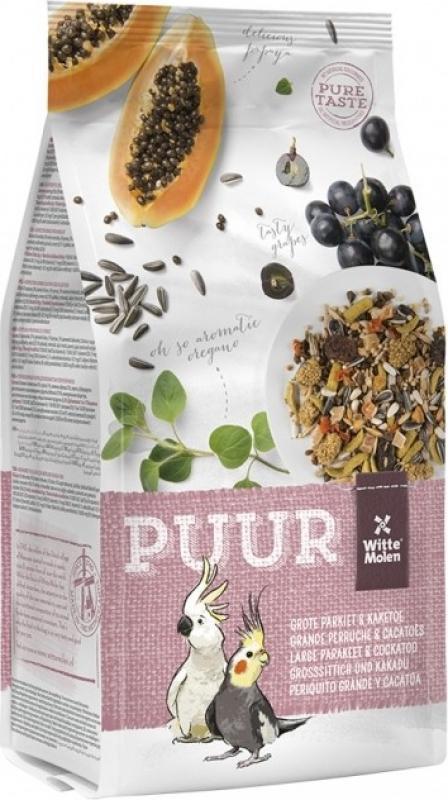 Mistura de sementes para periquitos grandes e catatuas PUUR