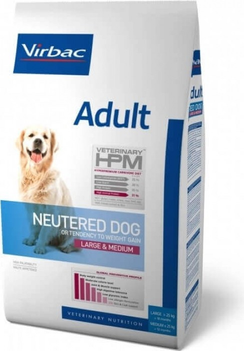 VIRBAC Veterinary HPM Neutered Large & Medium pour chien adulte stérilisé