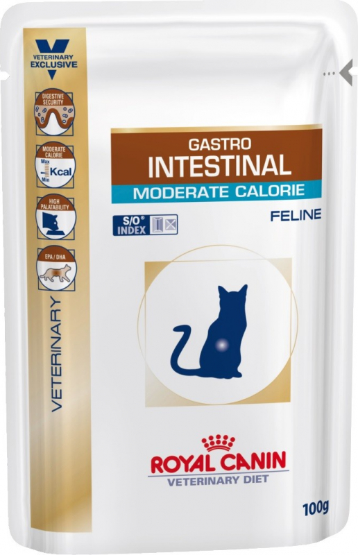 Pâtée Royal Canin Veterinary Feline Gastro Intestinal Moderate Calorie