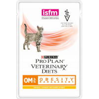 Pack de 10 Pâtées PRO PLAN Veterinary Diets Feline OM ST / OX Obesity Management