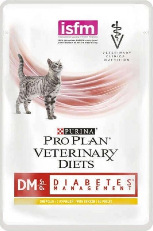 Pack de 10 pâtées PRO PLAN Veterinary Diets Feline DM ST / OX Diabetes Management - 2 saveurs au choix