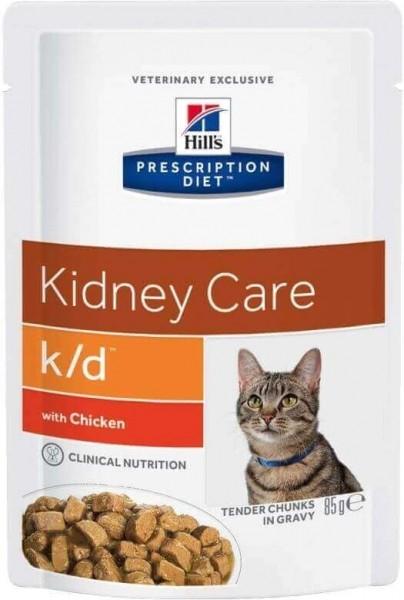 Sachet fraîcheur HILL'S Prescription Diet K/D Kidney Care - 3 saveurs au choix- 12 x 85g