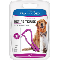 Francodex Retire-tiques pour chien et chat
