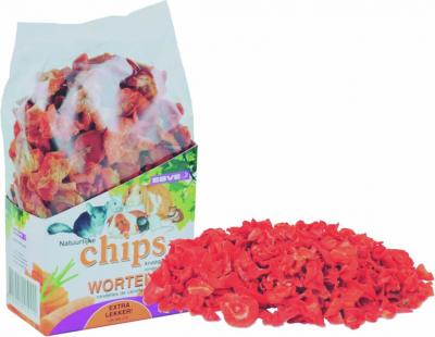 Chips de carotte pour rongeurs