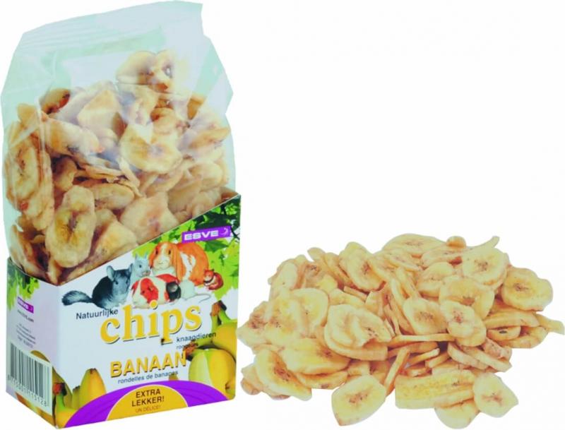 Golosinas Chips de plátano para roedores