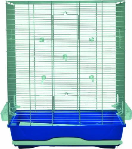 AMBRA Käfig für kleine Vögel in blau
