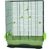 Cage AMBRA pour petits oiseaux coloris noir et sable - H74cm